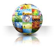 Bola de la galería de fotos del cuadro en blanco Fotos de archivo libres de regalías