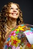 Bola de la muchacha imágenes de archivo libres de regalías