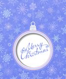 Bola de la Navidad. ilustración del vector