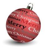bola de la Navidad 3D Fotografía de archivo libre de regalías