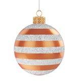 Bola de la Navidad aislada Imagenes de archivo