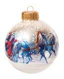 Bola de la Navidad aislada en el fondo blanco Imagenes de archivo