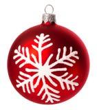 Bola de la Navidad aislada en el fondo blanco Fotos de archivo libres de regalías