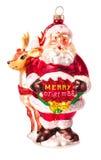 Bola de la Navidad aislada en el fondo blanco Imagen de archivo