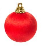 Bola de la Navidad aislada en el fondo blanco Fotografía de archivo libre de regalías