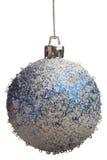 Bola de la Navidad azul y blanca Fotos de archivo libres de regalías