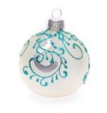 Bola de la Navidad blanca Imagenes de archivo