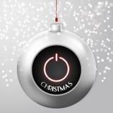 Bola de la Navidad con el botón de encendido stock de ilustración