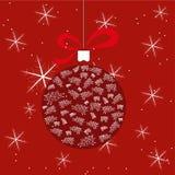 Bola de la Navidad con las ovejas stock de ilustración