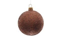 Bola de la Navidad de Brown aislada Foto de archivo libre de regalías