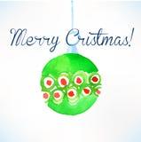 Bola de la Navidad Decoración de la Navidad Foto de archivo