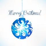 Bola de la Navidad Decoración de la Navidad Fotografía de archivo