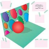 bola de la Navidad del ejemplo 3d Imagen de archivo
