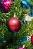 Bola de la Navidad en la rama Imágenes de archivo libres de regalías