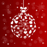 Bola de la Navidad, eps10 Imagenes de archivo