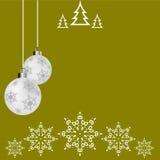Bola de la Navidad, postal, tarjeta de felicitación de la Navidad stock de ilustración