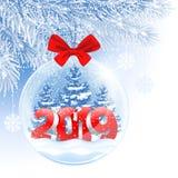 Bola de la Navidad y del Año Nuevo imagenes de archivo