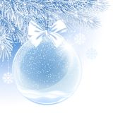 Bola de la Navidad y del Año Nuevo imagen de archivo