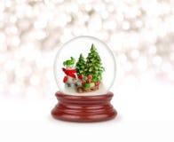 Bola de la nieve de la Navidad Imagenes de archivo