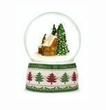 Bola de la nieve de la Navidad en el fondo blanco Imágenes de archivo libres de regalías