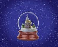 Bola de la nieve de la Navidad o globo del vidrio Fotografía de archivo libre de regalías