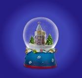 Bola de la nieve de la Navidad o globo del vidrio Foto de archivo libre de regalías