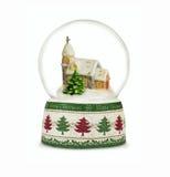 Bola de la nieve de la Navidad o globo del vidrio aislado en blanco Fotos de archivo libres de regalías
