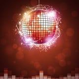 Bola de la noche del disco Imágenes de archivo libres de regalías