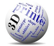bola de la nube de la impresión 3d Imagen de archivo libre de regalías