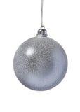 Bola de la plata de la decoración de la Navidad Imágenes de archivo libres de regalías