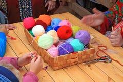 Bola de las lanas fotografía de archivo