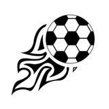 Bola de Logo Design Element del fuego del fútbol, fuego, fútbol, llama, quemadura, diseño, fútbol, Imagen de archivo libre de regalías