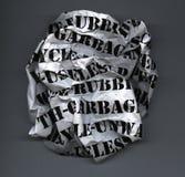 Bola de los desperdicios Imagenes de archivo
