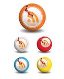 Bola de los iconos de Rss con la grieta libre illustration