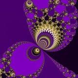 Bola de los lilas del fractal Foto de archivo