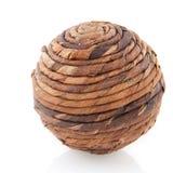 Bola de madera Foto de archivo libre de regalías