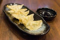 Bola de masa hervida de Gyoza, comida japonesa popular Imagenes de archivo