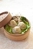 Bola de masa hervida de la sopa, Xiaolongbao Fotos de archivo