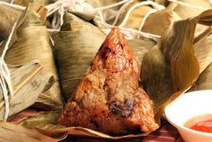 Bola de masa hervida tratada con vapor del arroz Fotografía de archivo