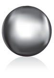 Bola de metal de plata Foto de archivo libre de regalías