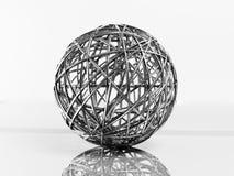 Bola de metal decorativa stock de ilustración