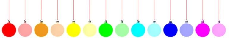 Bola de néon de suspensão do Natal da cor Fotos de Stock