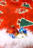 Bola de Navidad en pelo suave Fotos de archivo libres de regalías