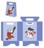 Bola de neve do Natal Teste padrão dos pacotes das bolsas Fotos de Stock Royalty Free