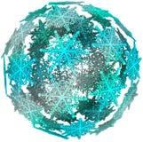 Bola de neve do símbolo do inverno da esfera da bola do floco de neve 3D Fotografia de Stock