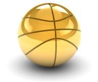 Bola de oro de la cesta Imagen de archivo