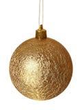 Bola de oro de la Navidad. Imagenes de archivo