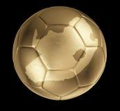 Bola de oro fotorrealista (dimensión de una variable de Suráfrica) Foto de archivo libre de regalías