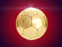 Bola de oro representación 3d imagen de archivo