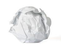 Bola de papel amarrotada imagem de stock royalty free